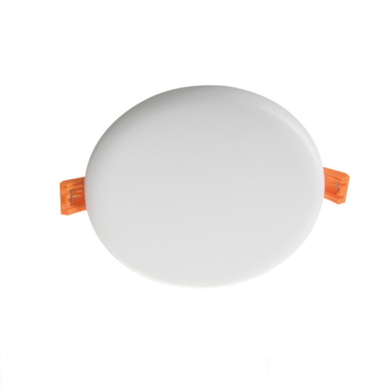 LED Einbauspot/Panel 230V 10W 730Lm DA=119mm AREL pur weiß 4000K superflach