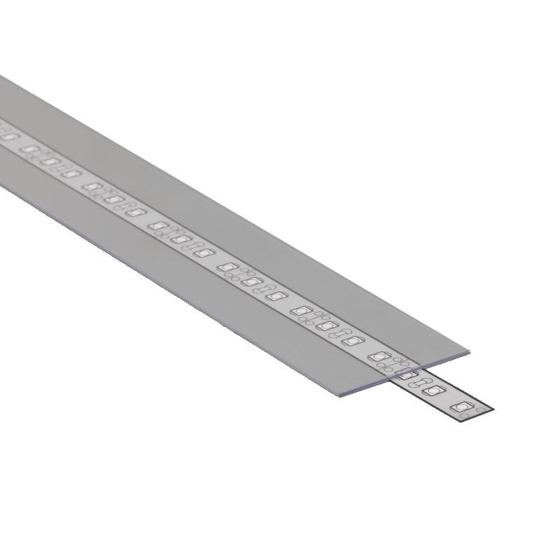 """(1,75€/m) 2m Schiebe-Abdeckung A9 für ALU-Profile """"VARIO"""" in klar / durchsichtig"""
