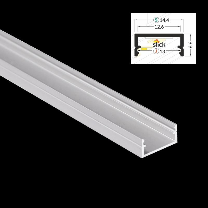 """Aluminium LeisteAluprofilSchiene /""""BEGTON-12/"""" Abdeckung für Led Streifen"""