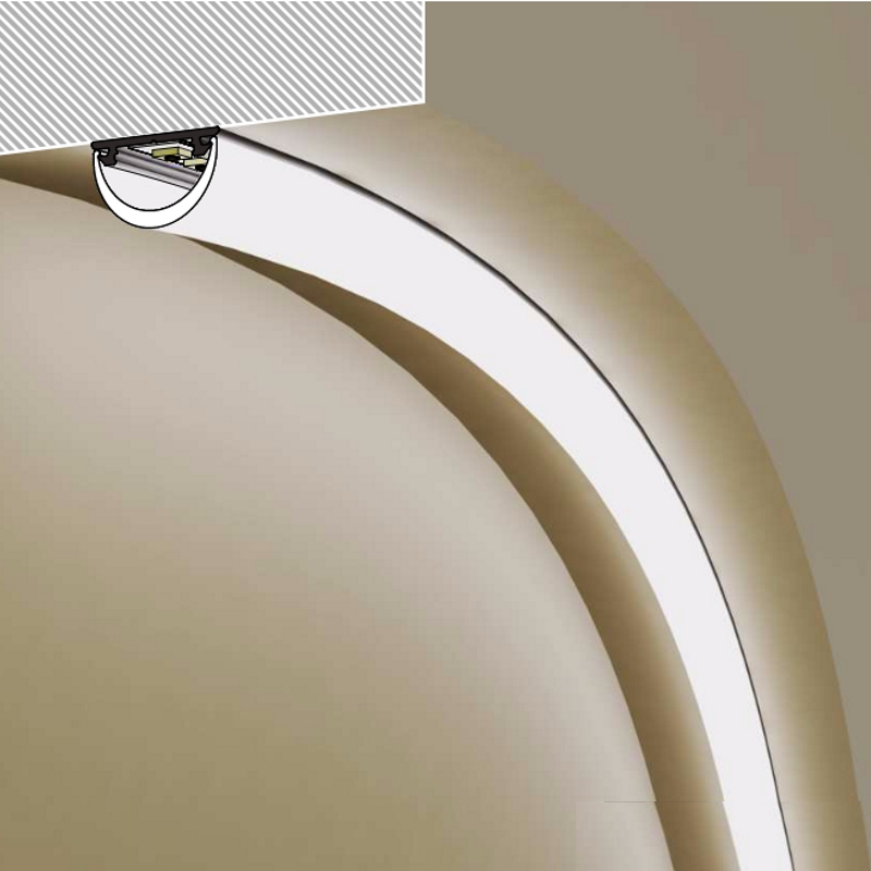 1m elastisches profil biegsame leiste ela f r led streifen stripes abdeckung ebay. Black Bedroom Furniture Sets. Home Design Ideas