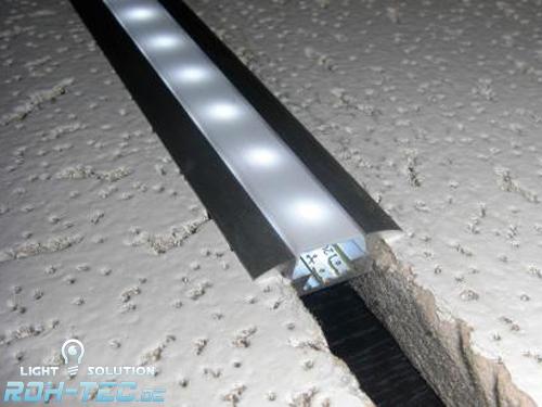 1m alu profil fuge aluminium einbau leiste f r led. Black Bedroom Furniture Sets. Home Design Ideas
