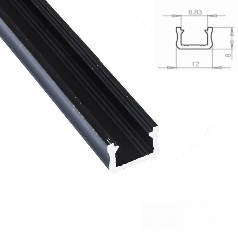 """1m weißes ALU-Profil//Leiste /""""SMALL/"""" für LED Streifen mit Abdeckung OPAL"""