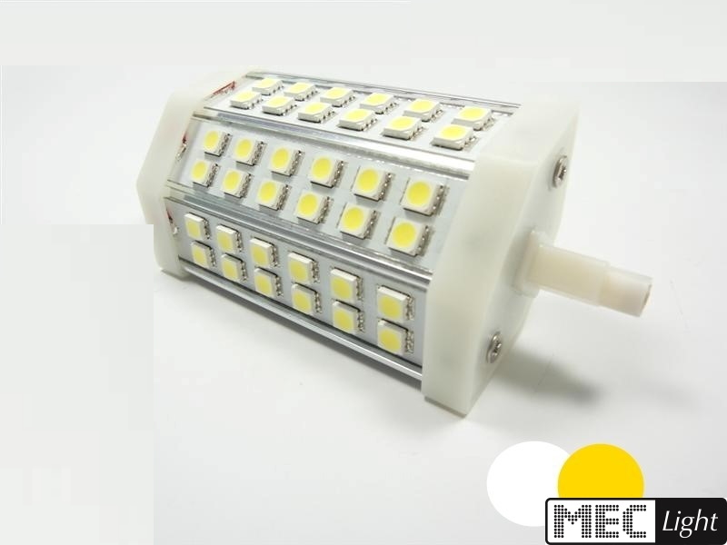 R7s LED Stab-Leuchte - 42x 3-Chip SMDs -118mm- 10W - 800Lm - warm-weiß