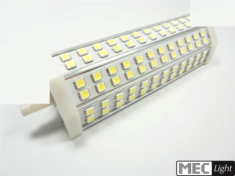 R7s LED Stab-Leuchte - 72x 3-Chip SMDs -189mm- 15W - 1150Lm - kalt-weiß