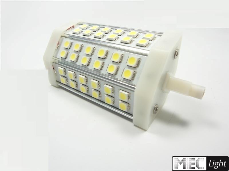 R7s LED Stab-Leuchte - 42x 3-Chip SMDs -118mm- 10W - 800Lm - weiß