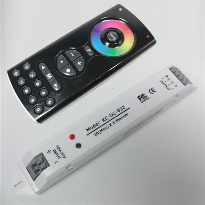 RGB-LED Funk-Sender Touch-Controller Play IV 4 + Empfänger/Receptor 12-32V / 2A