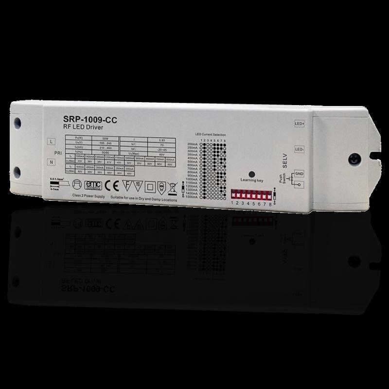 1 Kanal RF Empfänger (SRP-1009-CC) mit 50W LED Trafo zum dimmen Panels Mehrzonen