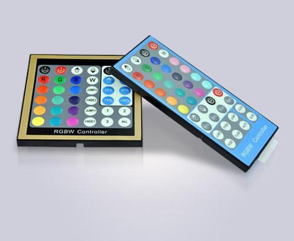 RGB(W) LED-Controller Wandeinbau-Panel + Funk RGBW Fernbedienung 12-24V RGB-W