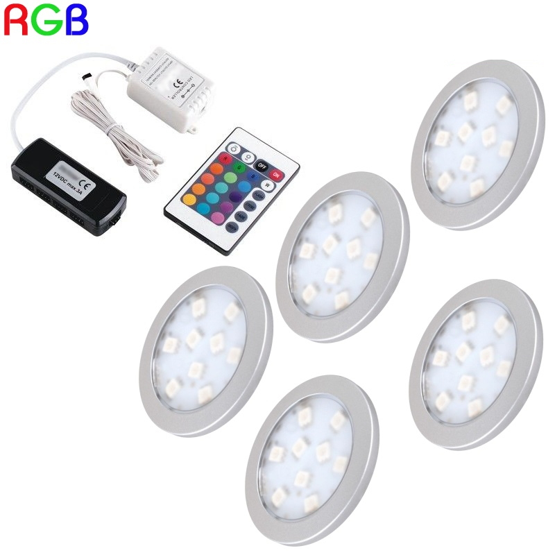 1-6-RGB-LED-Aufbau-Moebel-Unterbauleuchte-034-ORBIT-034-RGB-Controller-Trafo