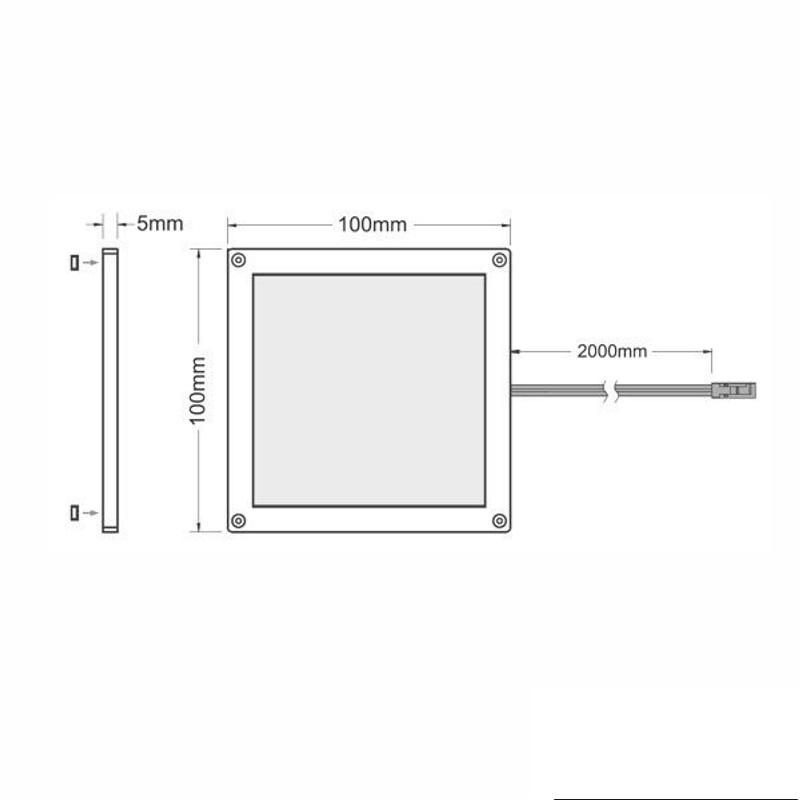 1 6x led beleuchtung aufbau unterbau leuchte unterschrank k che schrank trafo ebay. Black Bedroom Furniture Sets. Home Design Ideas