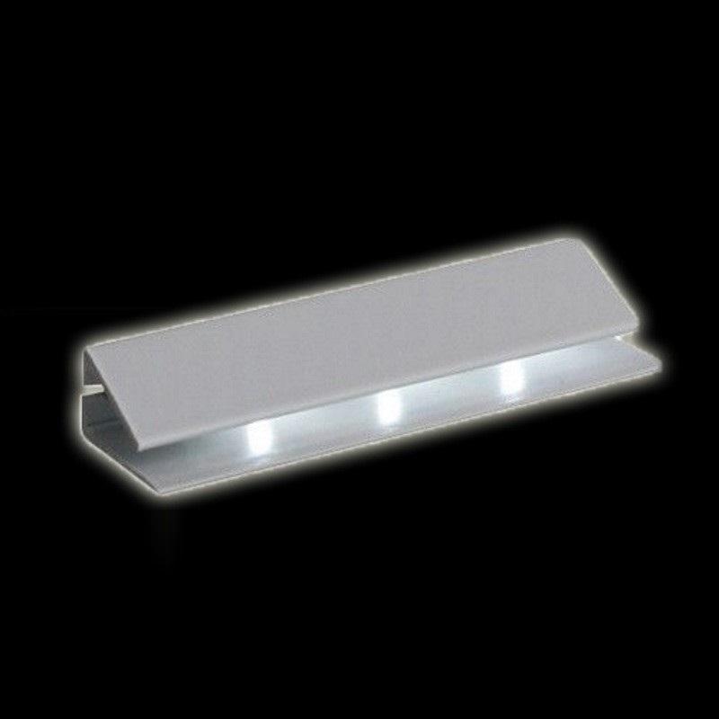 LED CLIP als Glaskantenbeleuchtung (warm-weiß) mit 2m Anschluss & MINI-Stecker