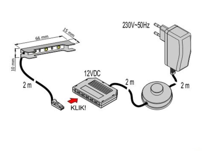 1-6 Stück LED-CLIPS als Glaskantenbeleuchtung + Trafo + ...