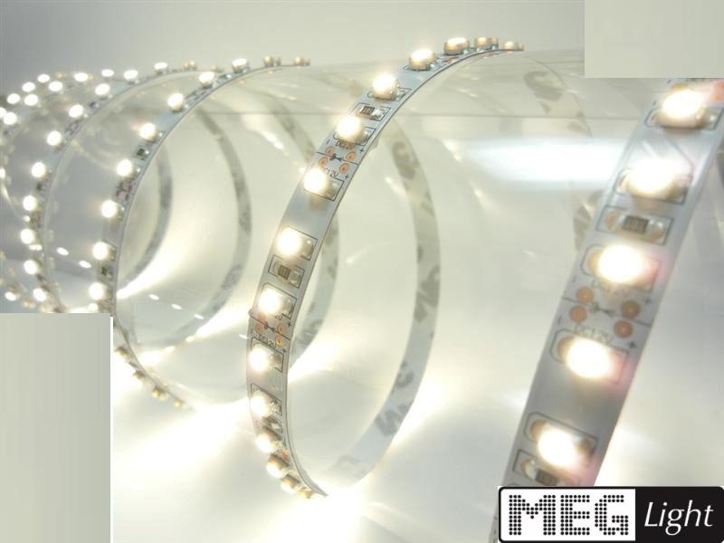 1m LED Streifen 120x SMD2835/m 600Lm 12V 6W Ra=90 warm weiß (3000K) IP66