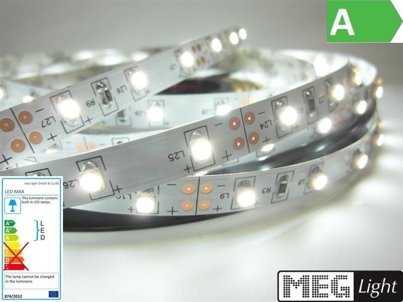 1m LED Streifen 60x SMD2835/m 600Lm 12V 6W Ra=90 WASSERFEST weiß (4500K) IP66