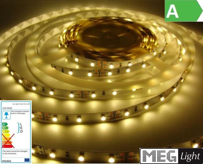 1m LED Streifen 60x SMD2835/m 1320Lm 12V 12W Ra=90 - warm-weiß (3000K) IP20