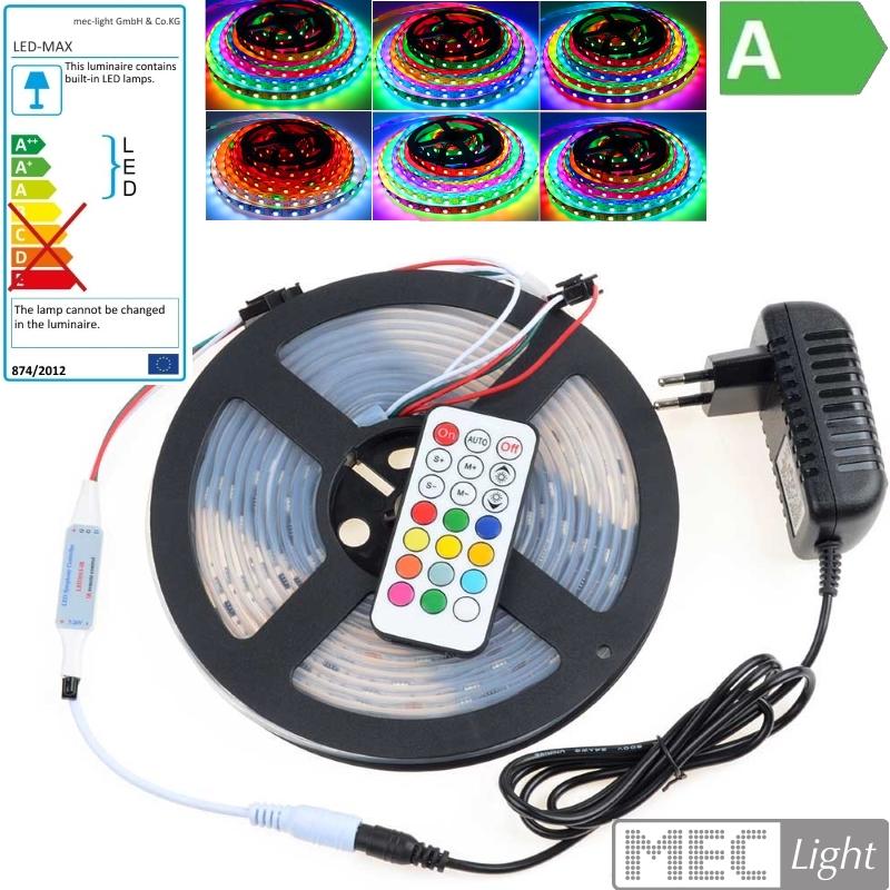 (15€/m) 5m RGB-IC LED Streifen 150x 2811IC-SMDs - Komplettset lauflicht möglich
