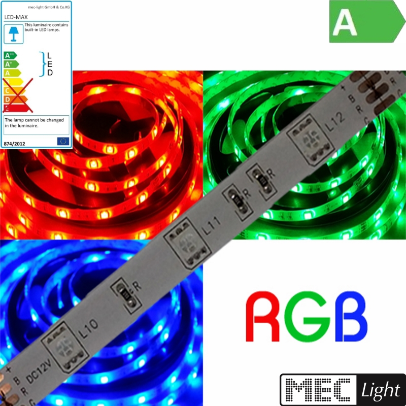 (8€/m) 50cm RGB LED Streifen/Stripe mit 30x 3-Chip-SMD-Leds - IP20