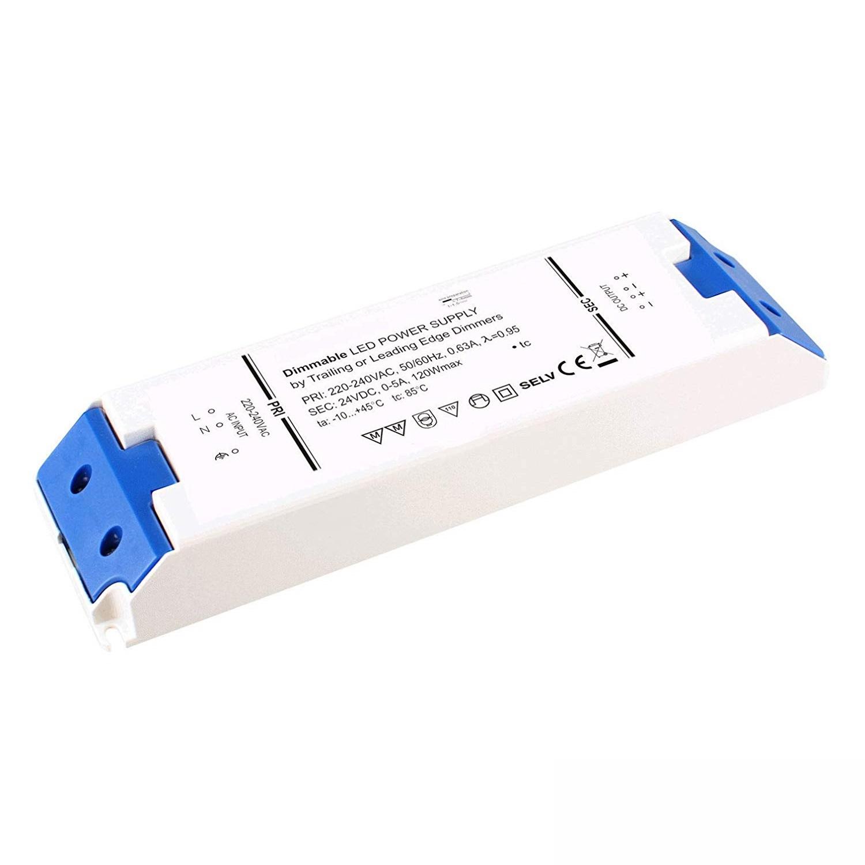 24V LED Trafo dimmbar Triac Phasenanschnitt oder Phasenabschnitt 120W, 5A. MM