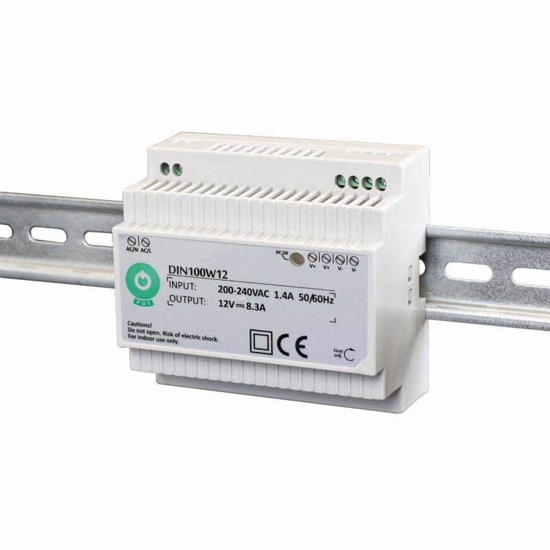 Hutschienen LED Trafo - SMD Netzteil 12V/DC - 100W - 8,3A (DIN100W12)