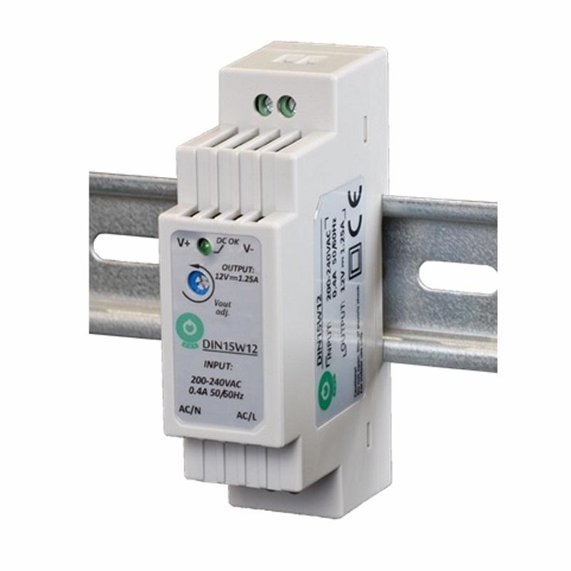 Hutschienen LED Trafo 12V/DC 15W 1,25A SMD Netzteil (DIN15W12) DIN-Rail Treiber