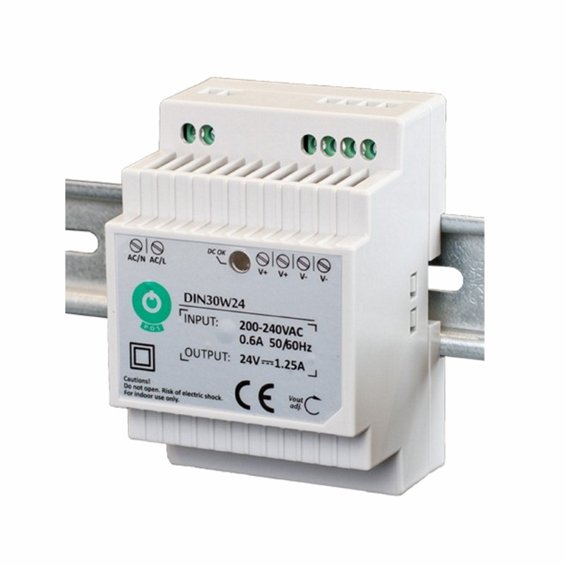 Hutschienen LED Trafo - SMD Netzteil 24V/DC - 30W - 1,25A (DIN30W24)