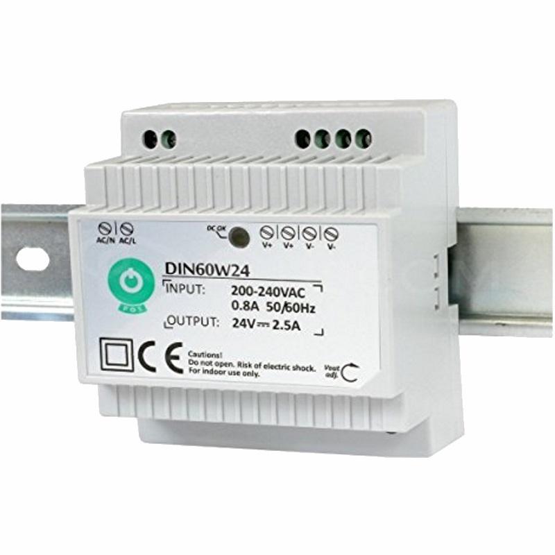 Hutschienen LED Trafo - SMD Netzteil 24V/DC - 60W - 2,5A (DIN60W24)