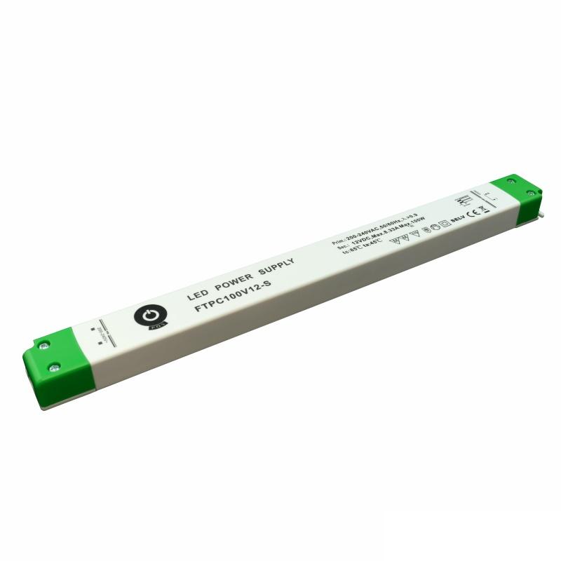 Slim Line LED Netzteil / SMD Trafo - 12V/DC - 100W - 8,33A - MM (FTPC100V12-S)