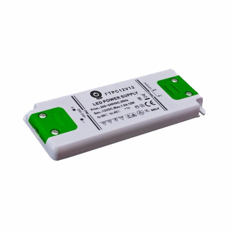 Slim Line LED Netzteil / Trafo mit PFC 12V/DC - 12W - 1A (FTPC12V12-C) MM
