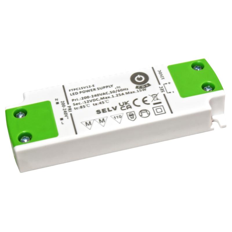 LED Trafo 12V 15W 1,25A MM PFC DC Schaltnetzteil Slim Line (FTPC15V12-C) Möbel