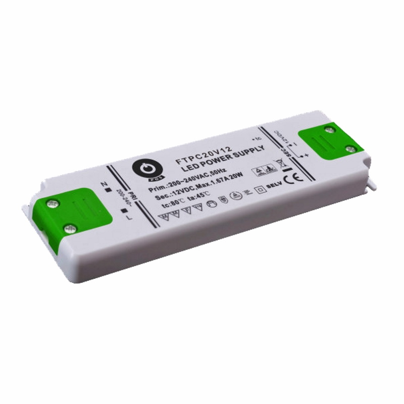Slim Line LED Trafo / Netzteil mit PFC 24V/DC 20W 0,83A (FTPC20V24-C) MM