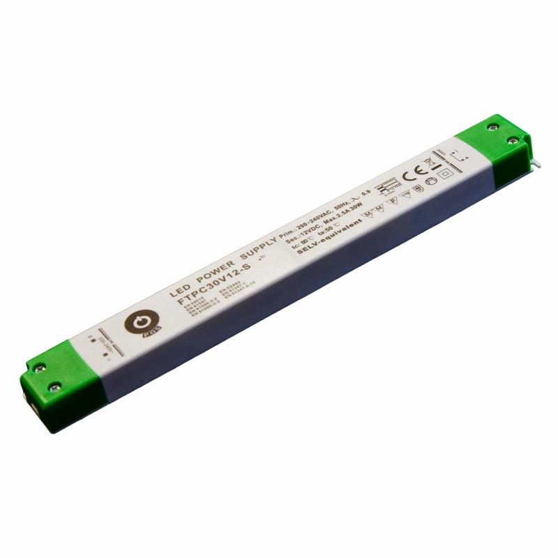 Slim Line LED Netzteil / Trafo mit PFC 24V/DC - 30W - 1,25A (FTPC30V24-S) MM