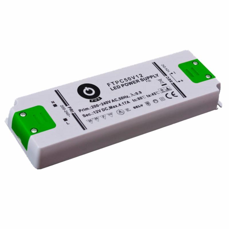 Slim Line LED Netzteil / Trafo mit PFC 12V/DC - 50W - 4,17A (FTPC50V12-C) MM