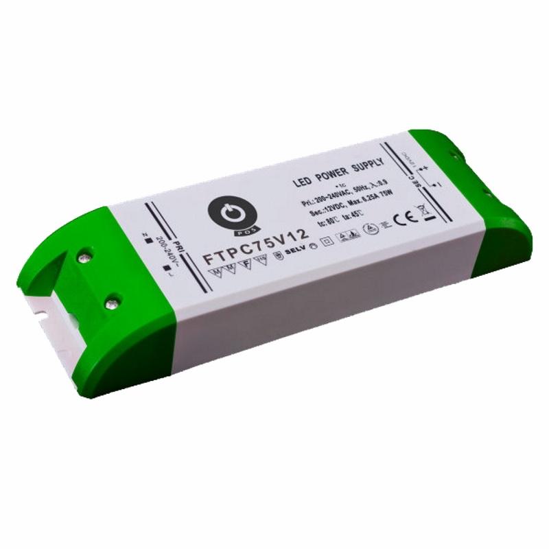 Slim Line LED Netzteil / Trafo mit PFC 24V/DC - 75W – 3,12A (FTPC75V24) MM