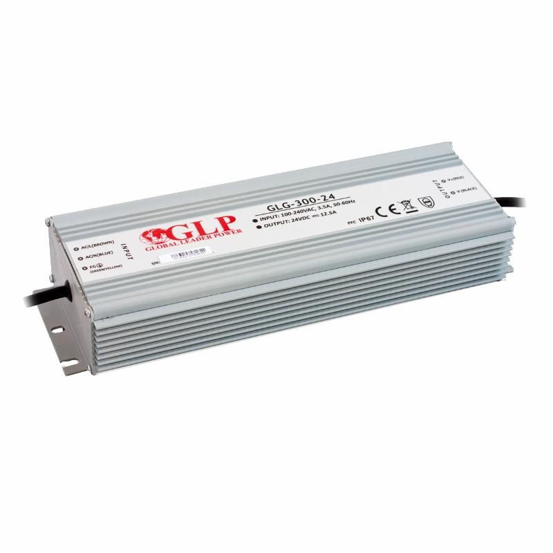 LED Trafo - Netzteil mit PFC 24V - 300W 12,5A -wasserfest- GLP (GLG-300-24) IP67