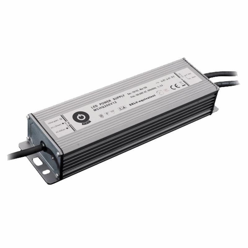 LED Trafo - Netzteil 24V/DC - 200W - 8,3A -wasserfest- (MCHQ200V24) IP67 Outdoor