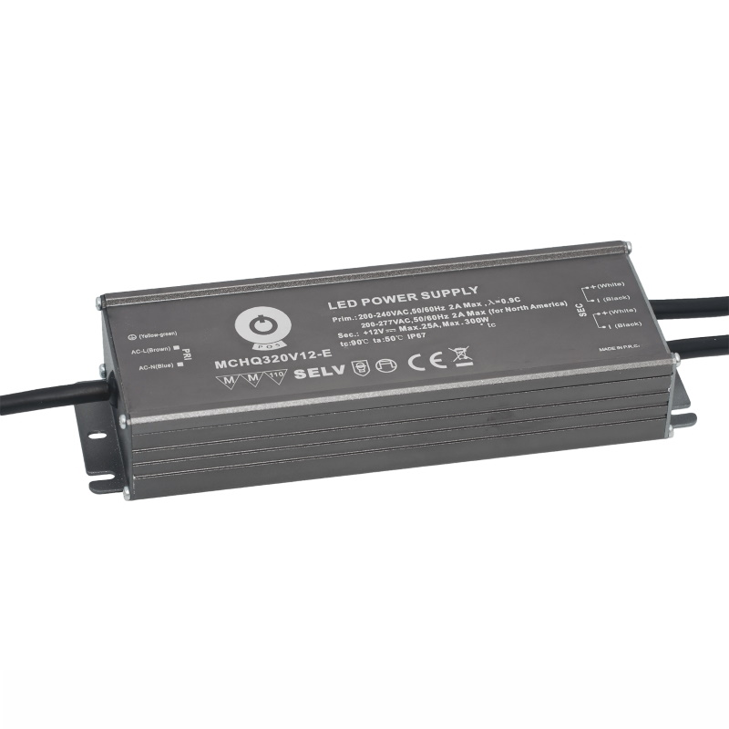 LED Trafo Netzteil aktive PFC Funktion 24V 320W 13,33A MM (MCHQ320V24-E) IP67