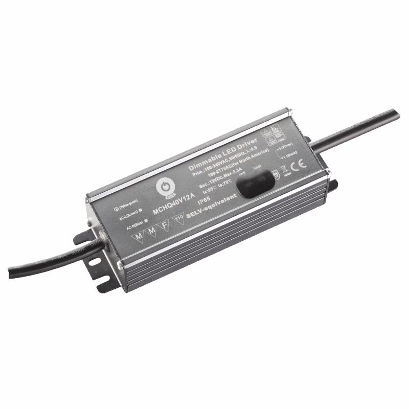 LED Trafo / Netzteil justierbar 10,5-13,5V 40W 3,3A wasserfest (MCHQ40V12A) IP67