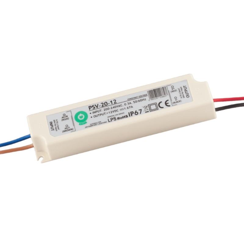 LED Trafo - SMD Netzteil - 20W - 1,67A - 12V/DC -wasserfest- (PSV-20-12) IP67