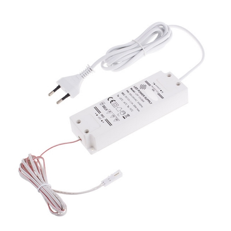 LED Trafo / Netzteil 12V / 30W mit MINI-Buchse für MINI-Stecker-Buchse