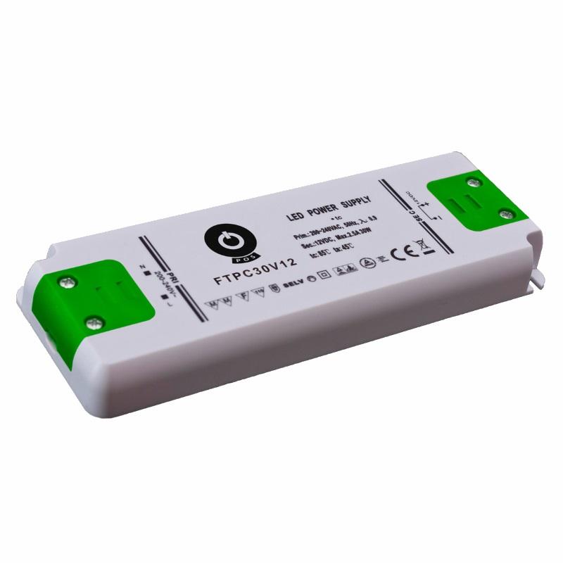 Slim Line LED Netzteil / Trafo mit PFC 12V/DC 30W 2,5A (FTPC30V12-C2) MM