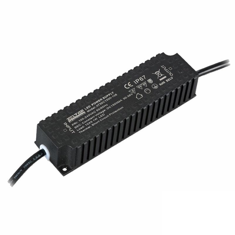 Led Trafo 60W wasserfest für 12V/DC Led Leuchten bis 5A an 230V/AC (IP67)