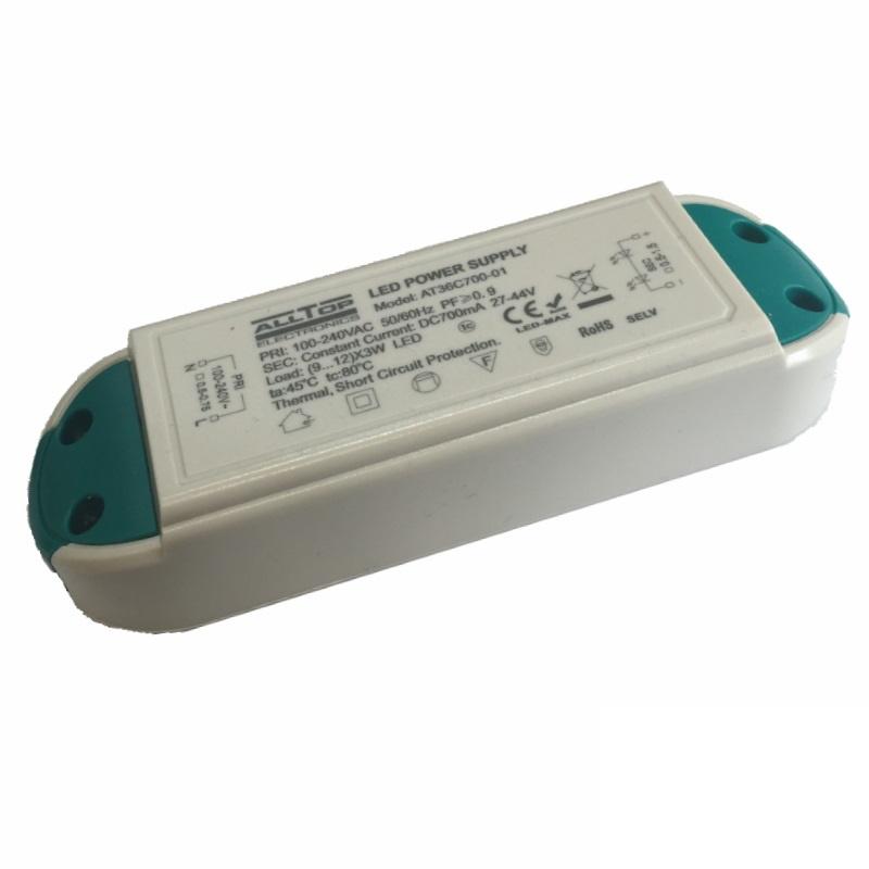 LED Netzteil / Trafo 700mA Konstantstrom (9...12) 3W Power LEDs 27-44V