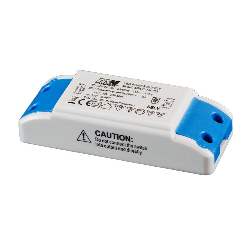 LED Netzteil / Trafo 700mA Konstantstrom 12-23V DC 8-16W Power LEDs MPLC-16-700