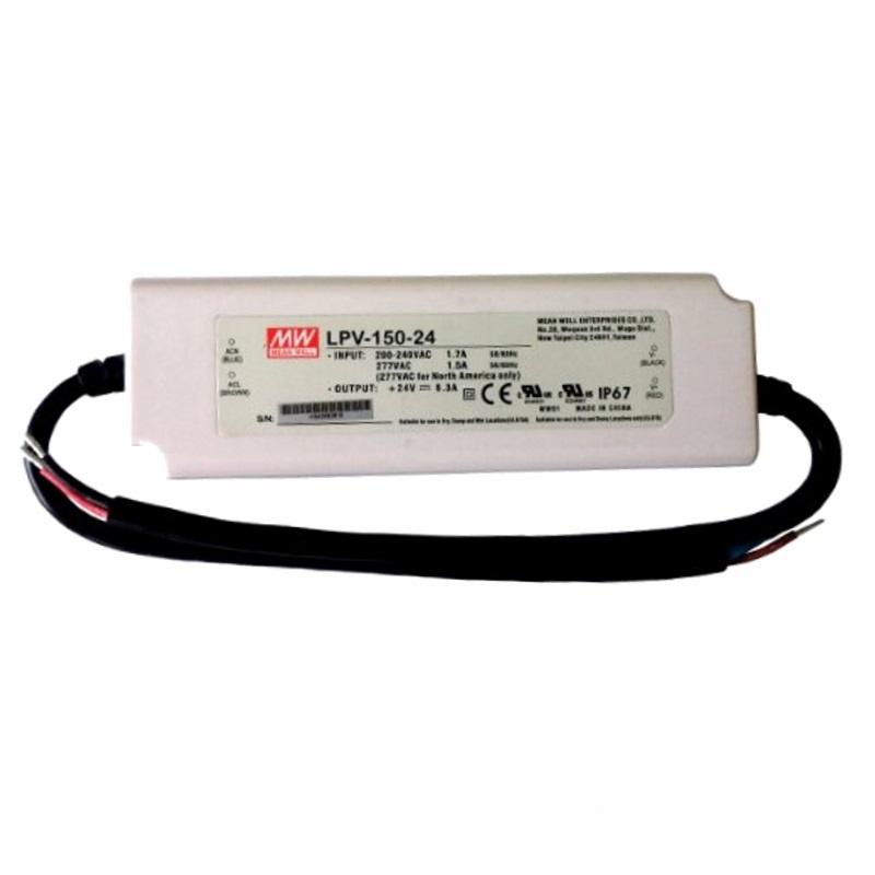 LED Trafo - Netzteil - 151W - 6,3A - 24V -wasserfest- MEANWELL (LPV-150-24) IP67