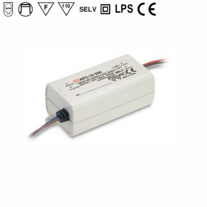 LED Netzteil / Trafo 350mA Konstantstrom 9-36V DC 12,6W (APC-12-350) MEAN WELL