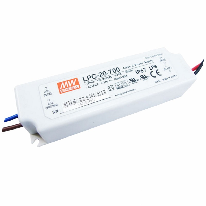 LED Netzteil/Trafo 700mA Konstantstrom 9-30V DC 9-21W (LPC-20-700) MEAN WELL