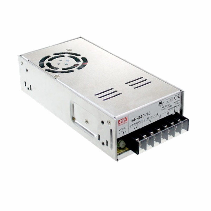 LED Trafo - Netzteil 12V/DC - 240W - 20A MEANWELL (SP-240-12) MW TÜV MM