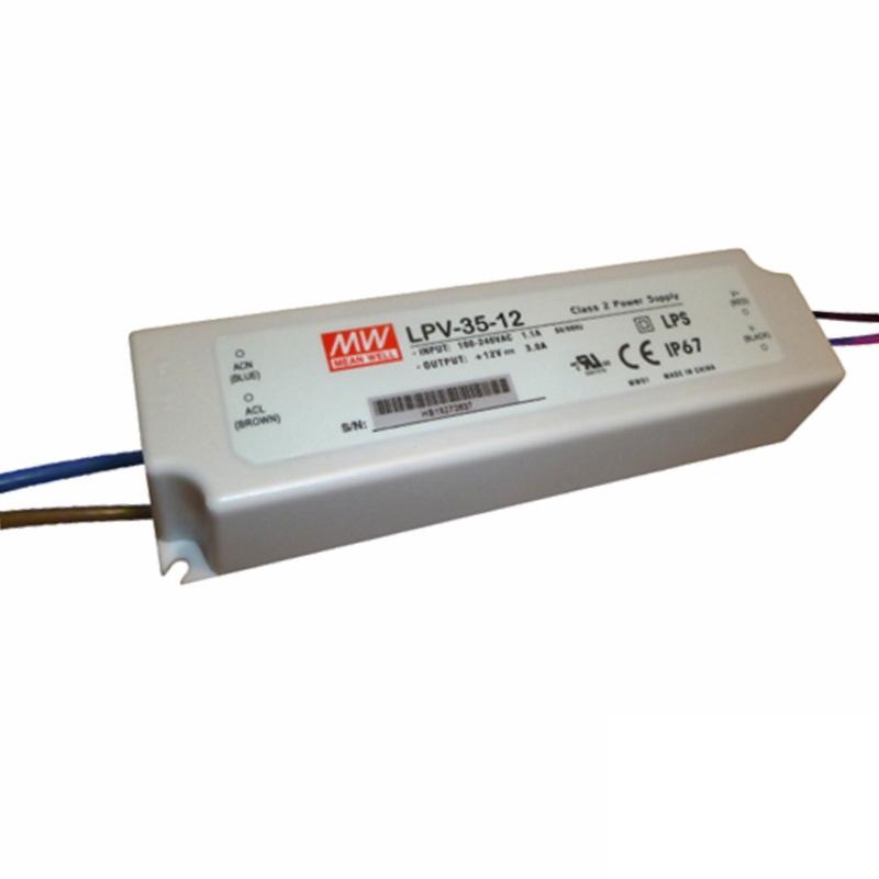 LED Trafo - Netzteil - 36W - 1A - 36V -wasserfest- MEAN WELL (LPV-35-36) IP67