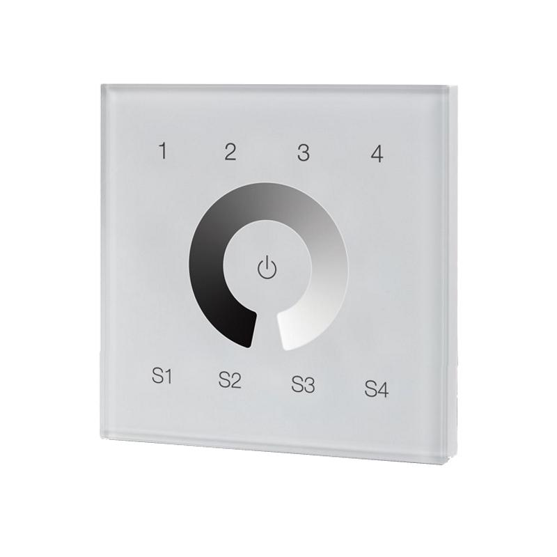 ZigBee 4-Kanal Wand-Controller Touch-Schalter / Dimmer (ML-ZG2018T4-DIM) LED