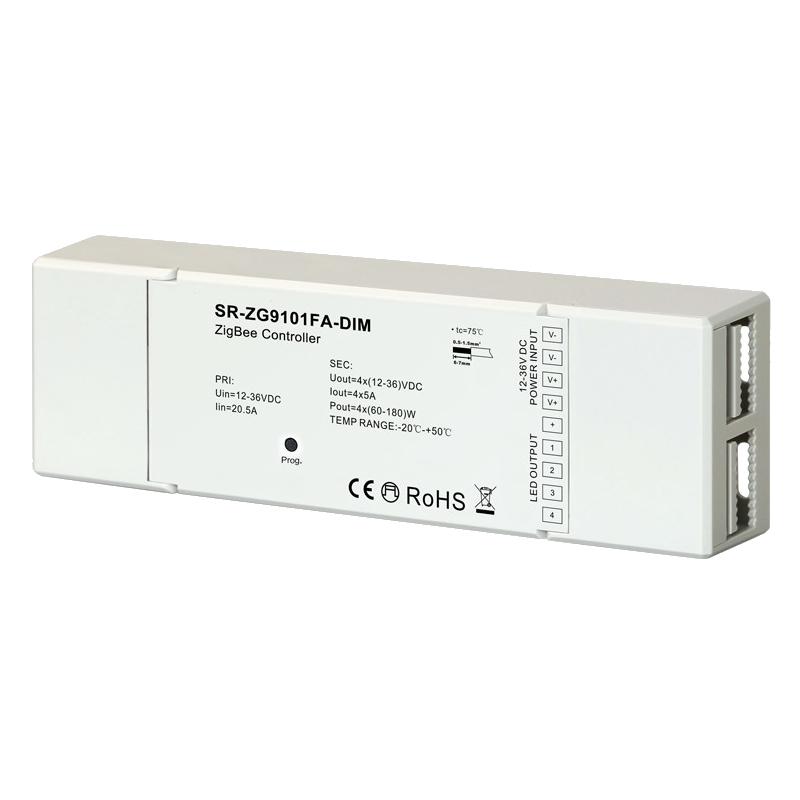 ZigBee Dimmer/Controller 12-36V/DC 4x 5A LEDs schalten/dimmen (ML-ZG2018FA-DIM)